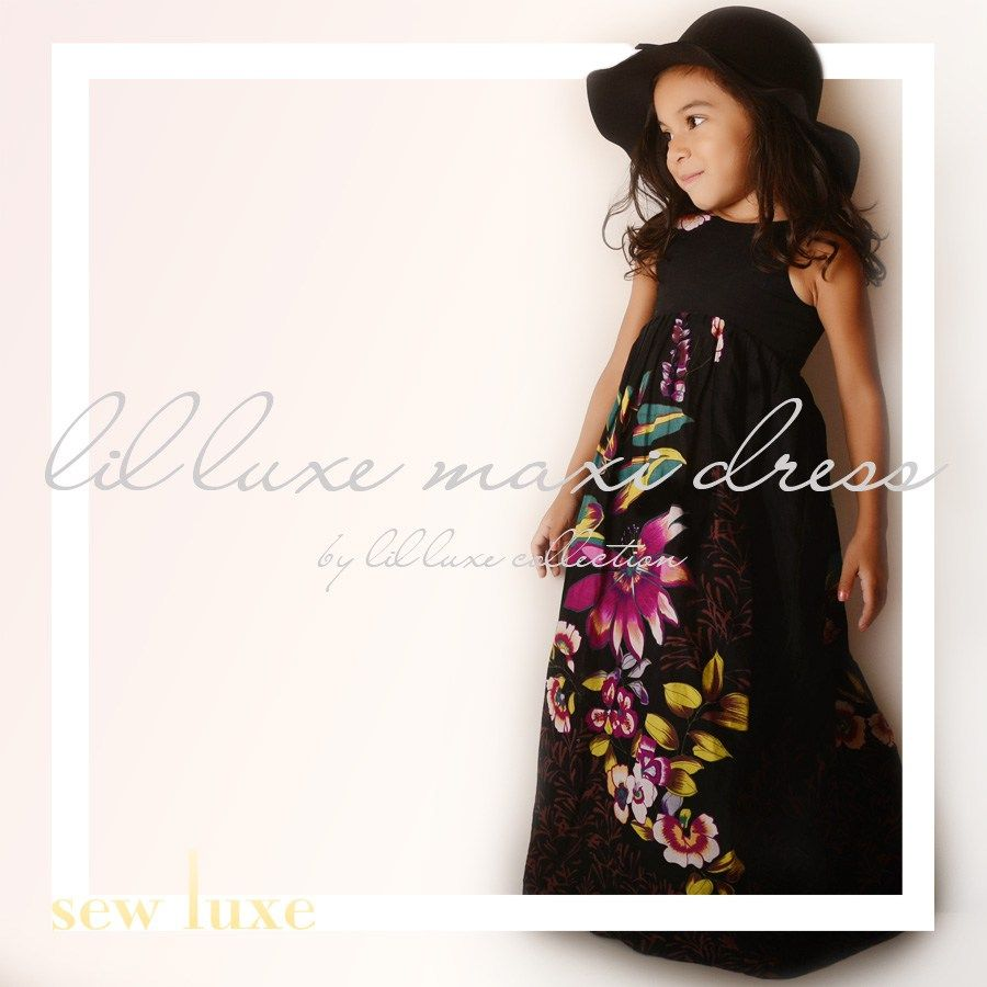 lil luxe maxi dress 1 | Kids Patterns | Pinterest | Maxi dresses ...