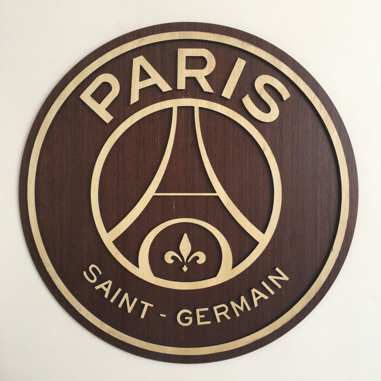 Wooden Football Logo Crest Paris Saint Germain Gift Wall Hang Decor Soccer Fan Sports Collectibles Custom Made Wall P Paris Saint Psg Paris Saint Germain