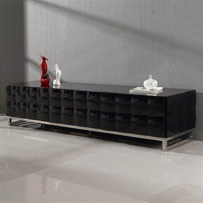 TOSH Furniture TOS-ST-V521 Modern High Gloss Lacquer TV Stand. atgstores.com
