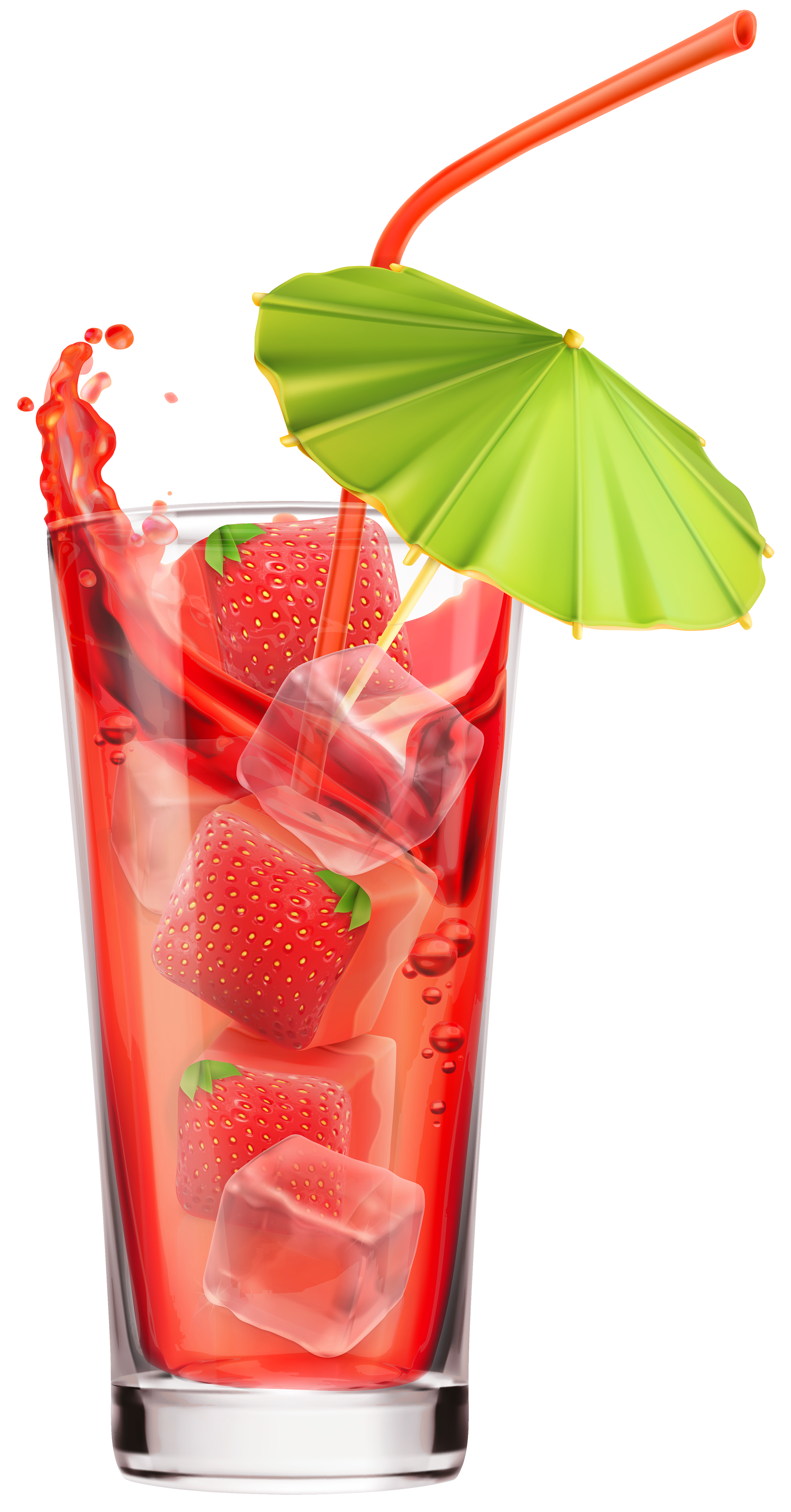 Strawberry Cocktail PNG Clipart Image