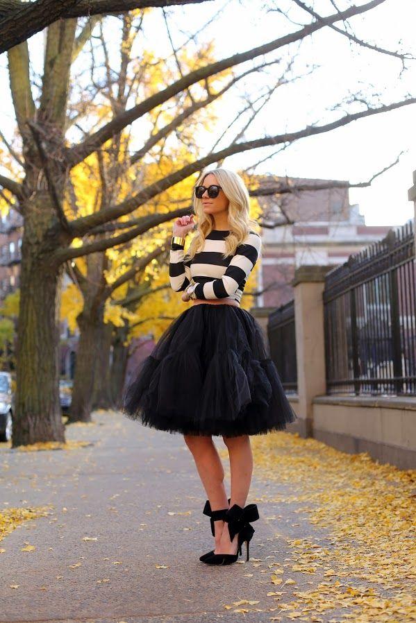 Layered Skirt black chiffon lace