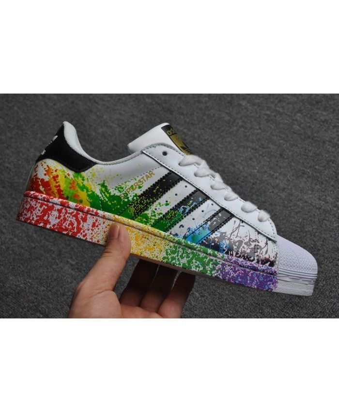 Unisex Adidas Originals Superstar Pride Pack Splash Ink ...