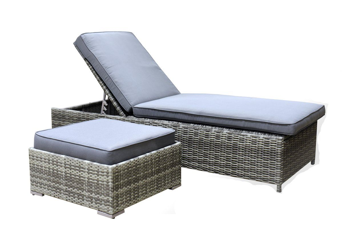 Seeking out vallauris chaise lounge with cushion by elle decor