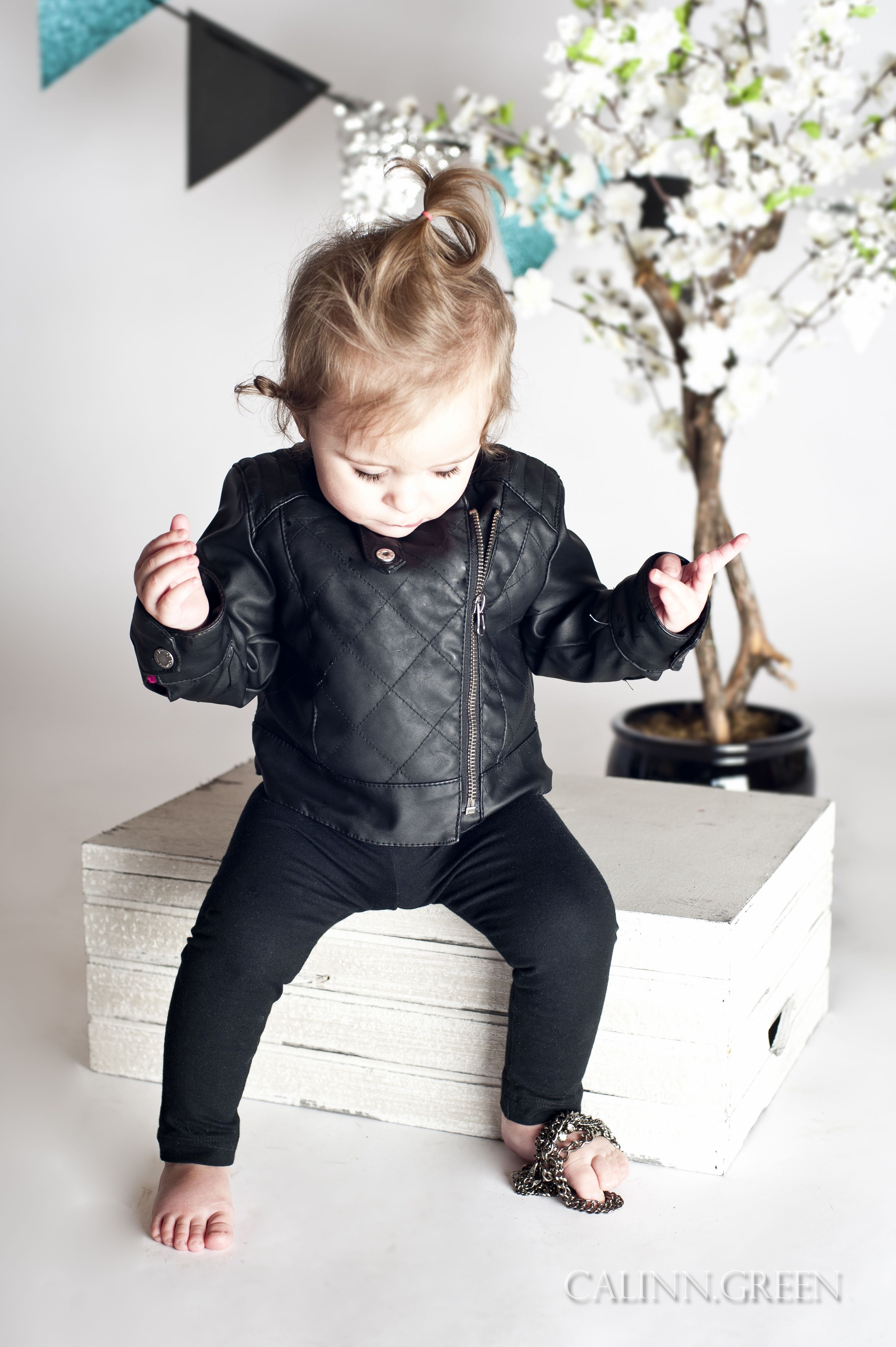 My Baby Girl In Her Leather Jacket Baby Fashion Kids Fashion Girl Outfits [ 4038 x 2687 Pixel ]
