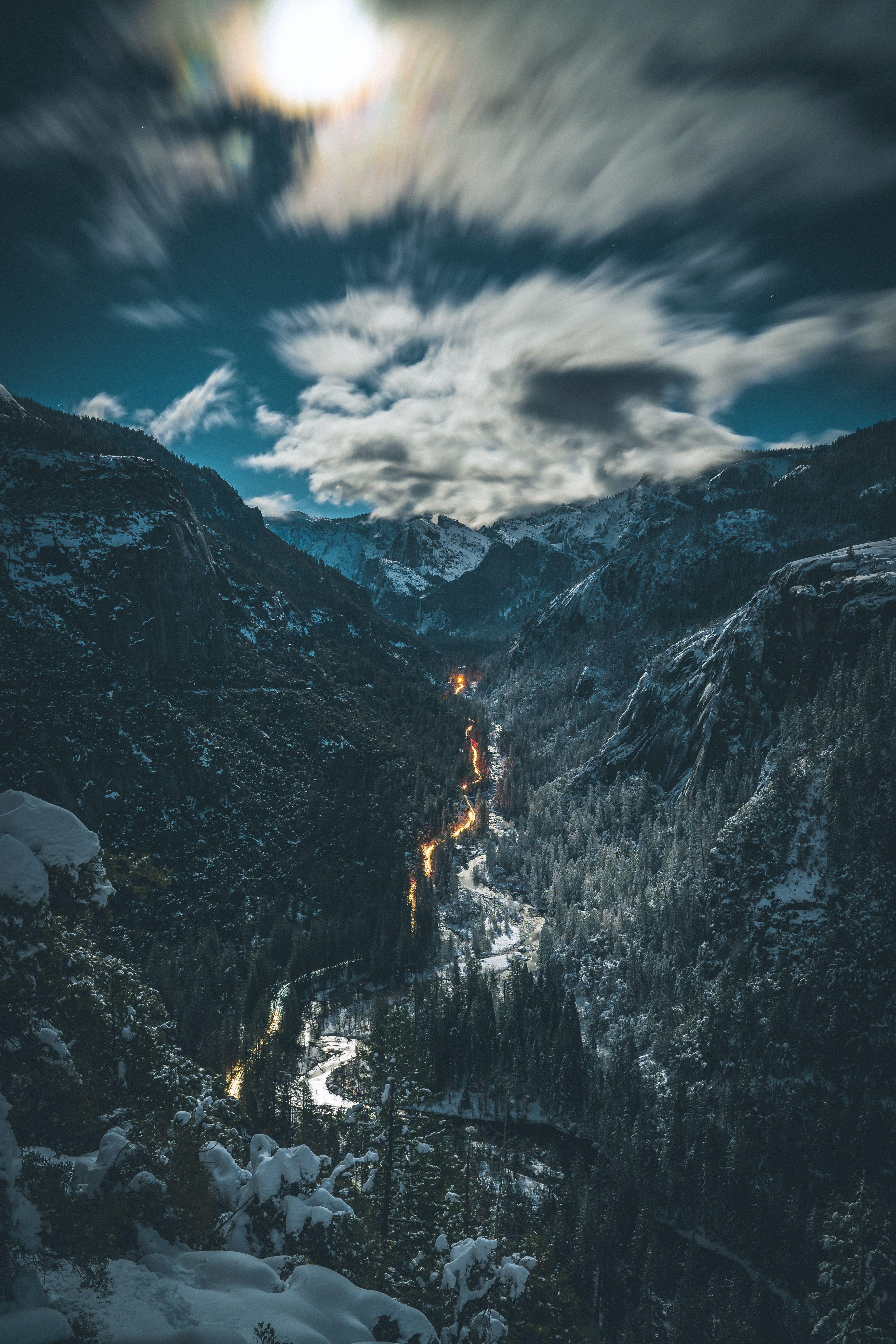 Wallpapers wilderness, snow, ridge, winter, atmosphere