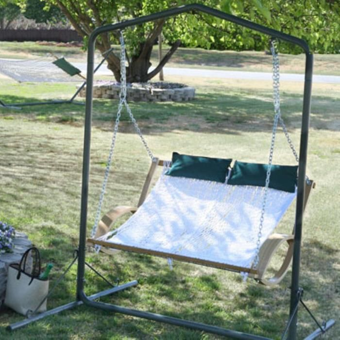 Our classic 2-seater Hammock Swing is perfect for any porch, backyard or shady spot.