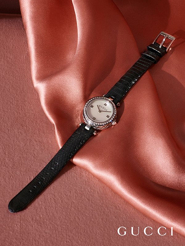 fb036f4ce93 Discover more gifts from the Gucci Timepieces Collection. The Women s Diamantissima  watch features a white mother-of-pearl dial enriched with 43 diamonds.