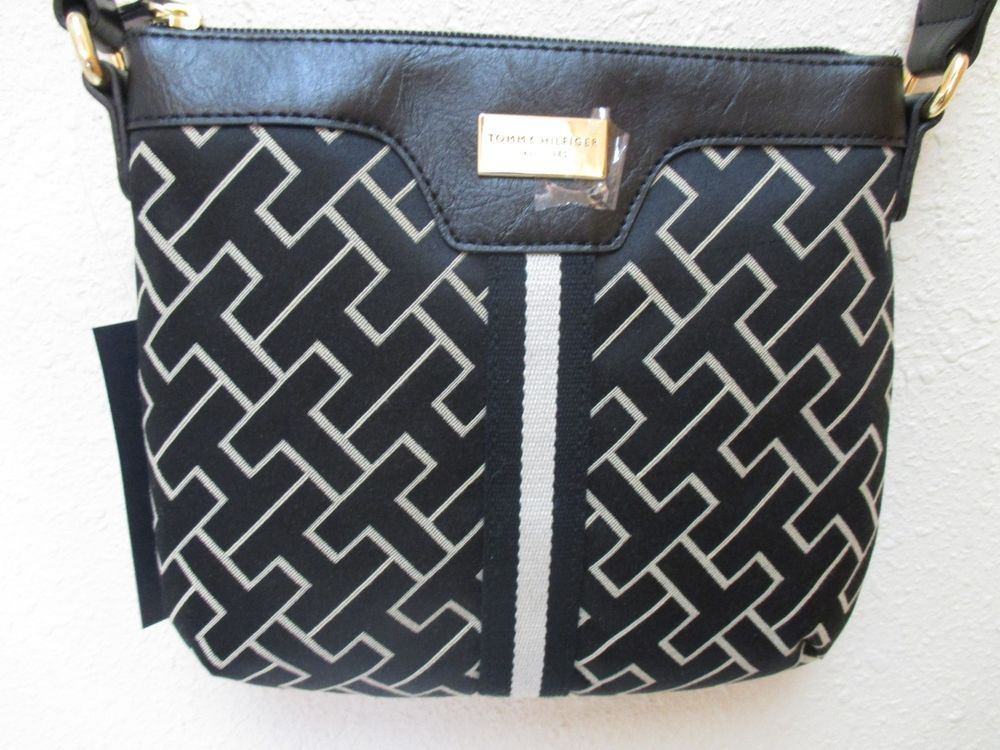Bag Tommy Hilfiger Handbags Small XBody 6912762 002 Black Beige Gold #TommyHilfiger #MessengerCrossBody