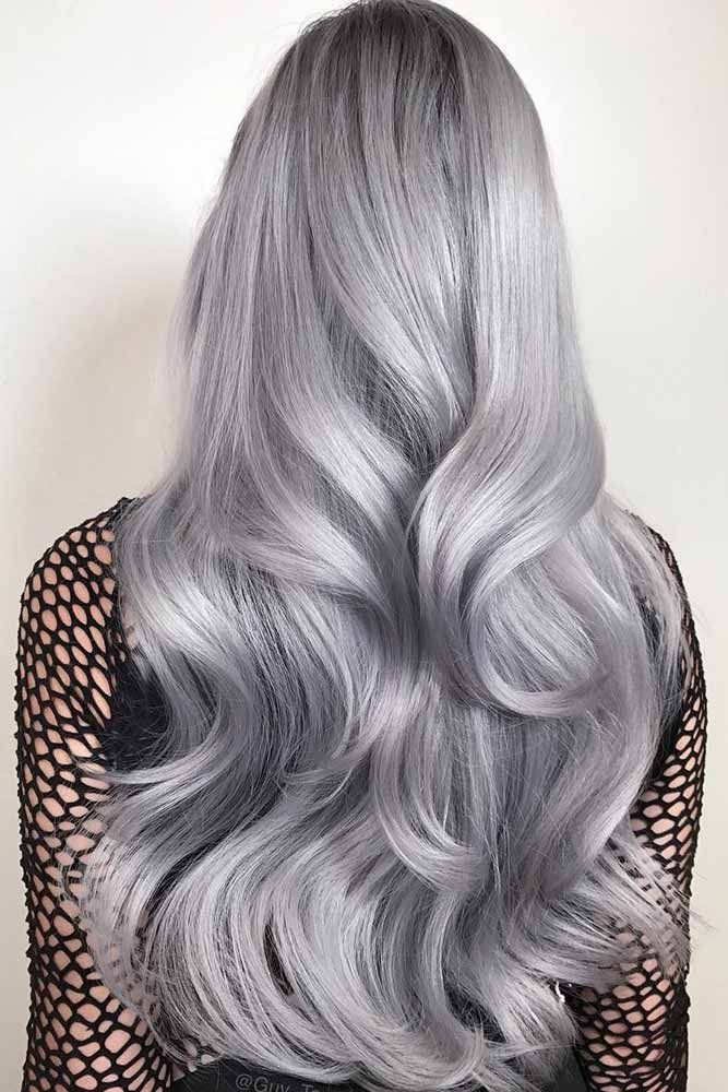 A silver hair color is our future. That is why we have created a photo gallery featuring the sassiest looks with silver and we will also help you learn how to get and then how to maintain a super-chic silver hair hue. #silverhair #silverombre