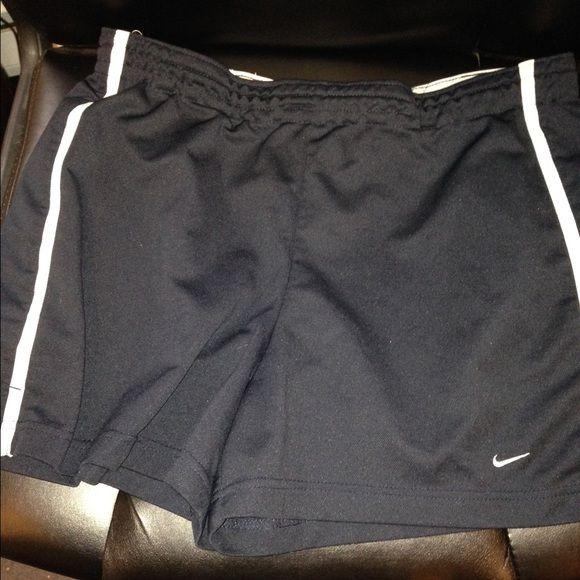 Nike Large Navy Shorts Navy Blue, White Side Stripe Nike Shorts
