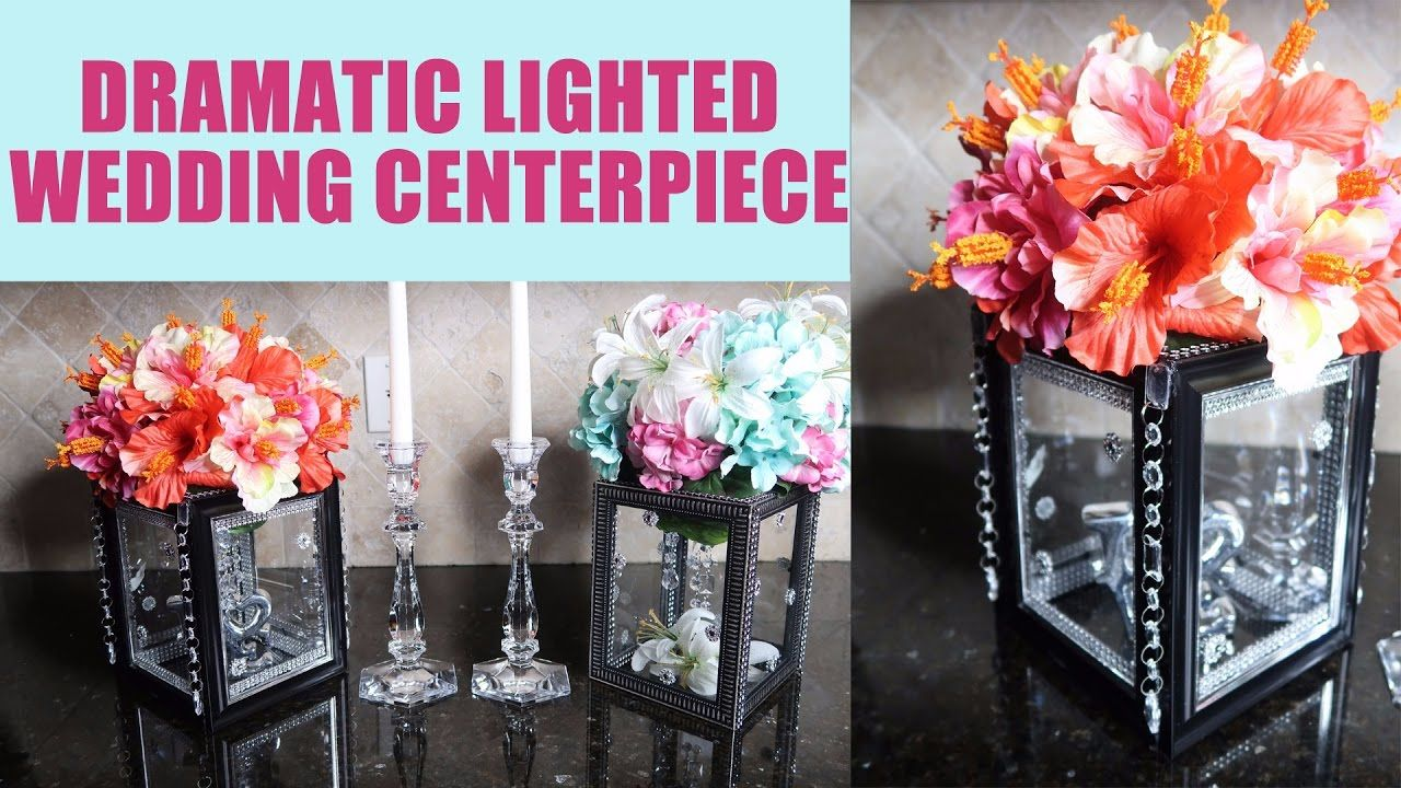 Diy Dramatic Lighted Wedding Centerpiece Toots 4 Crafting