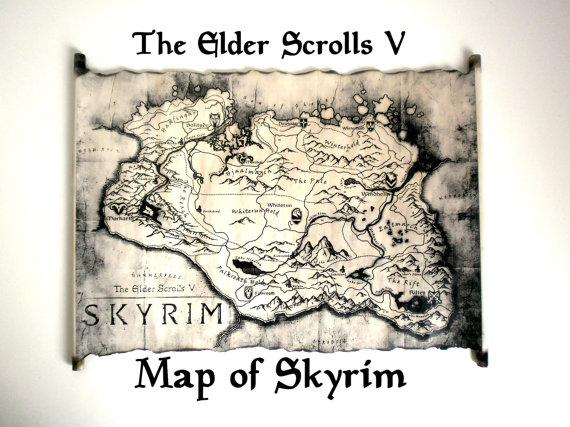 Fantasy Karte.Karte Von Skyrim Elder Scrolls V Karte Tes Karte Skyrim Tamriel