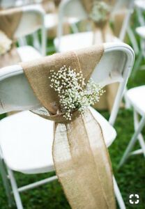 Burlap Sashes For Wedding Decoration For Rent Backyard Wedding Decorations Wedding Chair Decorations Wedding Ceremony Chairs