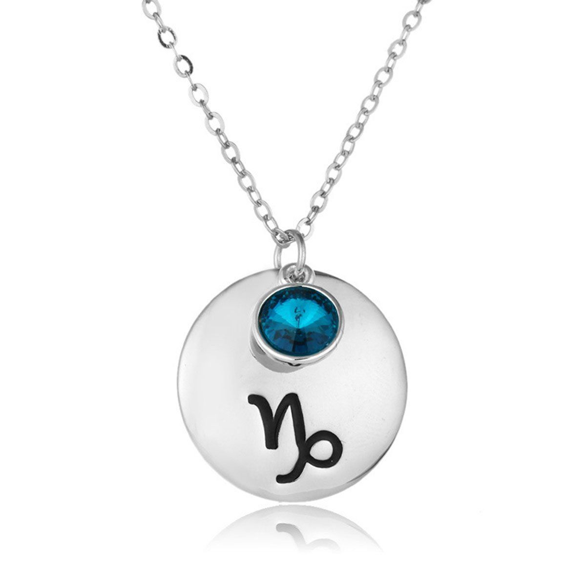 Linsh capricorn horoscope necklace lucky birthstone crystal zodiac