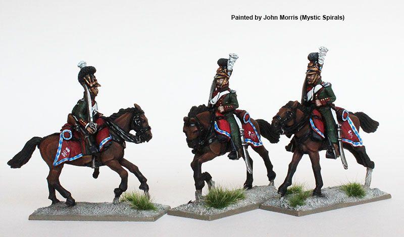 BAV 32 Chevauxlegers, galloping , shouldered swords, Perry Miniatures