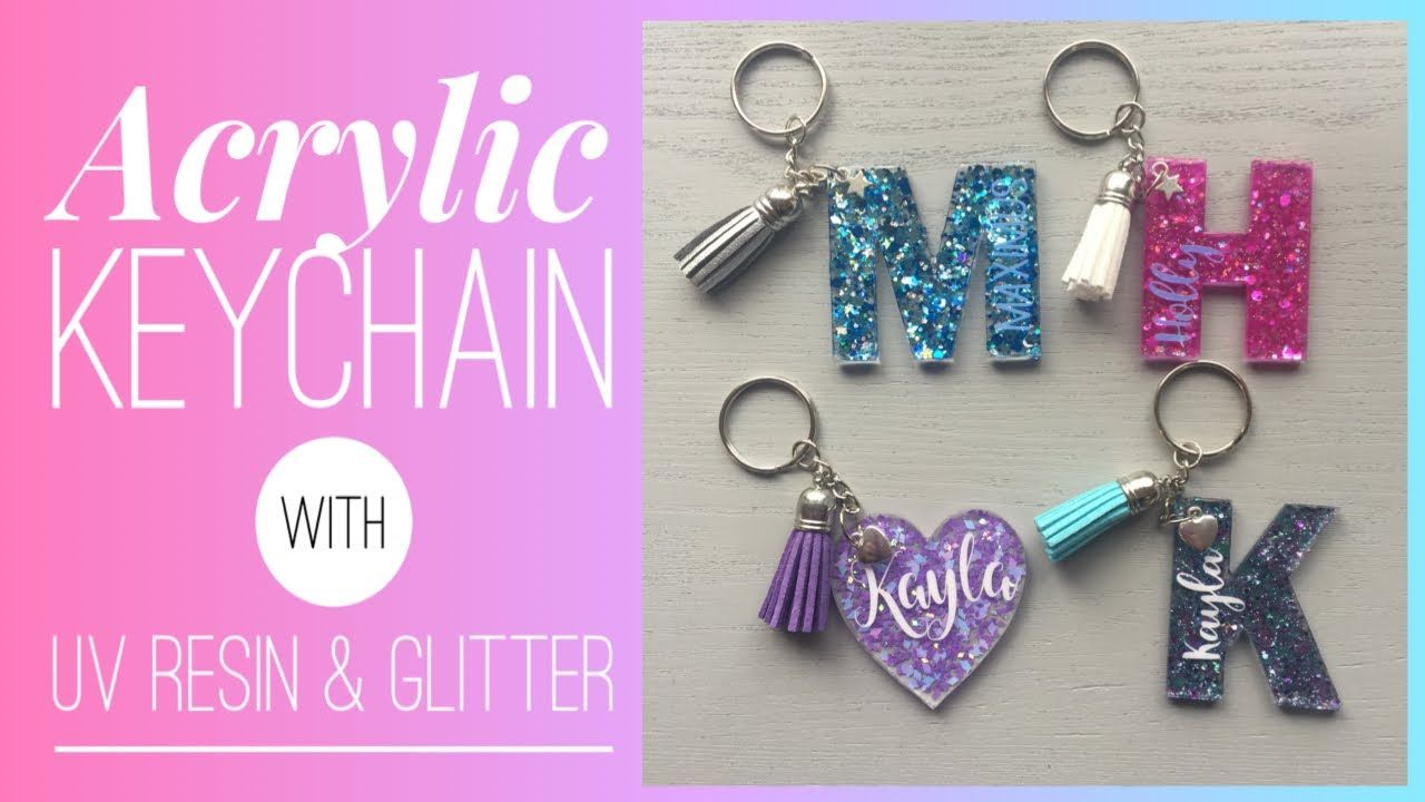 how to make acrylic keychains with resin