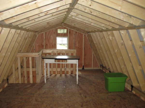 Interior second story gambrel roof wood tex products for Gambrel roof cabin plans