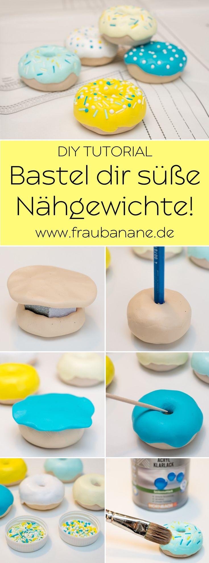 Anleitung } Donut Nähgewichte aus Fimo   Pinterest