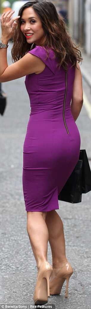 Purple Bodycon Dress and Beige High Heels | Dresses 1: these ...