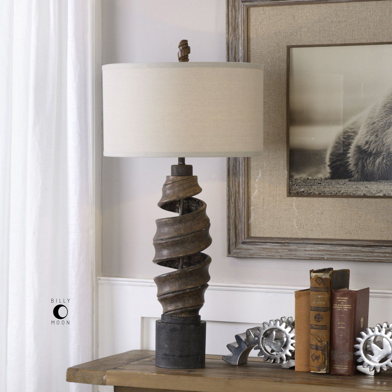 Uttermost Abrose Twisted Table Lamp - 27541-1