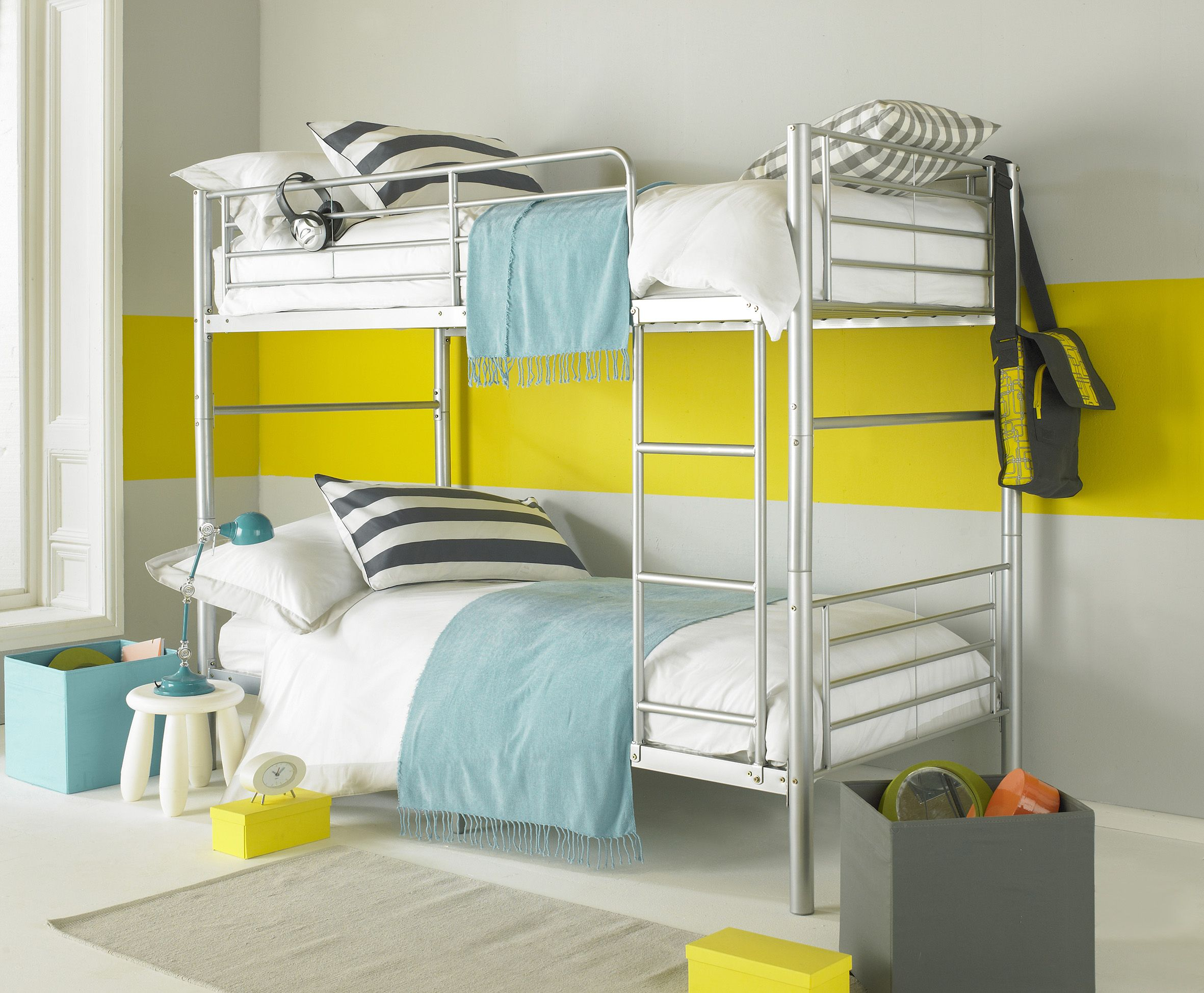 Seattle Alloy Silver Kids And Teens Bunk Bed Also Available In