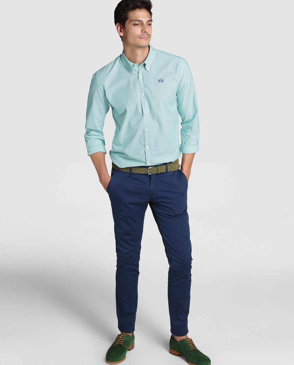 Camisa de hombre La Martina regular de rayas verde · La Martina · Moda · El