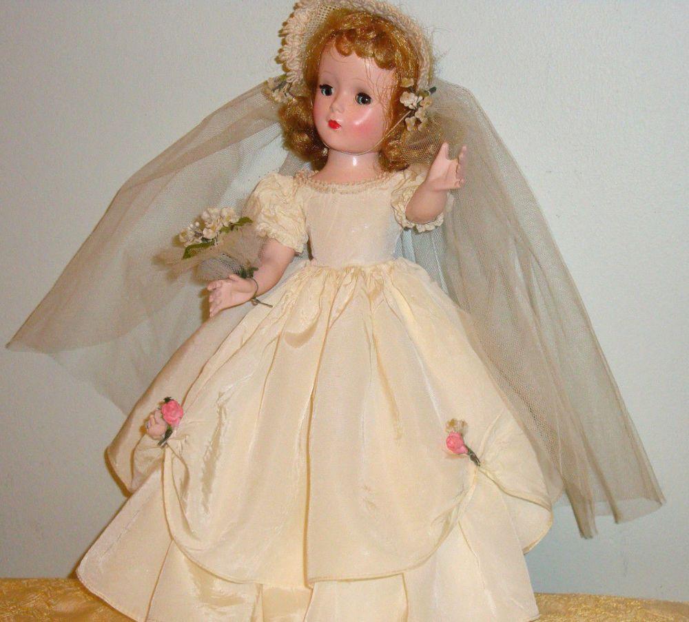 Details About Madame Alexander Wendy Bride 15 Quot Bkw Vintage