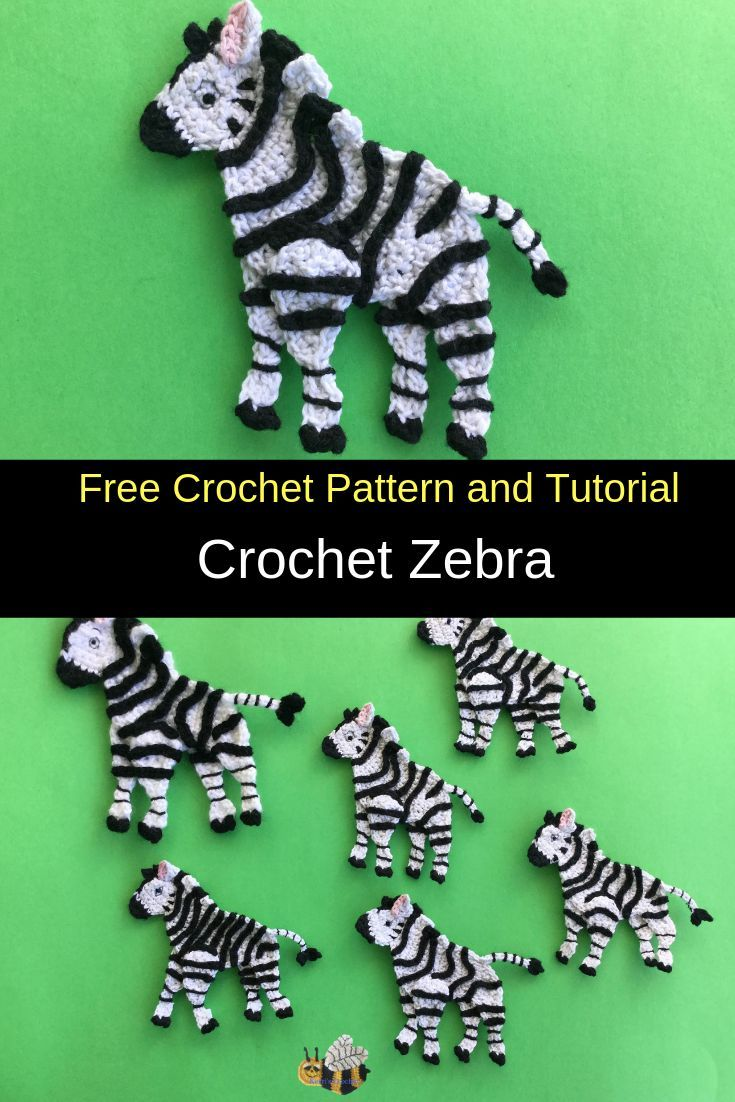 Crochet Zebra Pattern | Crochet zebra, Crochet zebra ...