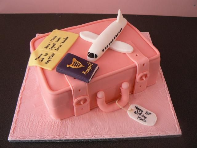 Travel Themed Birthday Cake By Cakes Of Distinction Cork Ireland