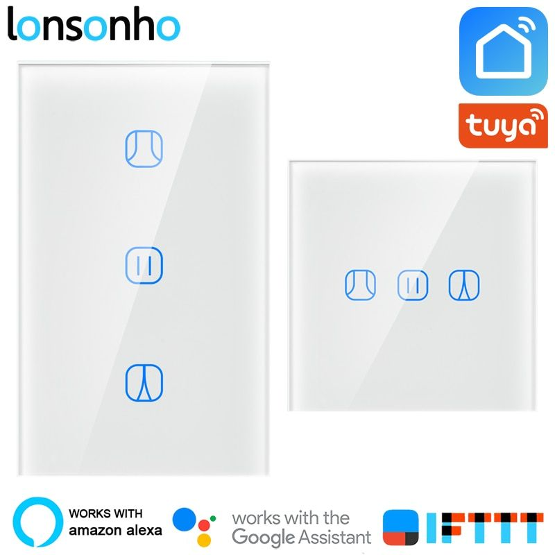 Lonsonho Tuya Smart Life Wifi Smart Curtain Switch Blind EU