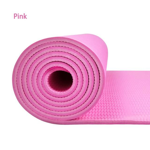 6mm Tpe Non Slip Yoga Mat 8 Colors Available Highlights Non Slip Non Toxic Eco Friendly Feature 1 This Product Is Great Elastic Re Yoga Mat Thick Yoga Mats