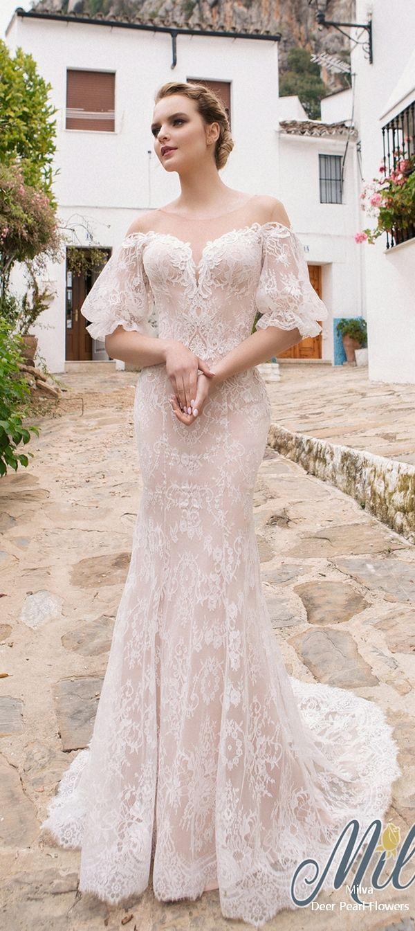 Lace off shoulder wedding dress august 2019 We Love Milva Wedding Dresses  u  Collection  Vestidos de
