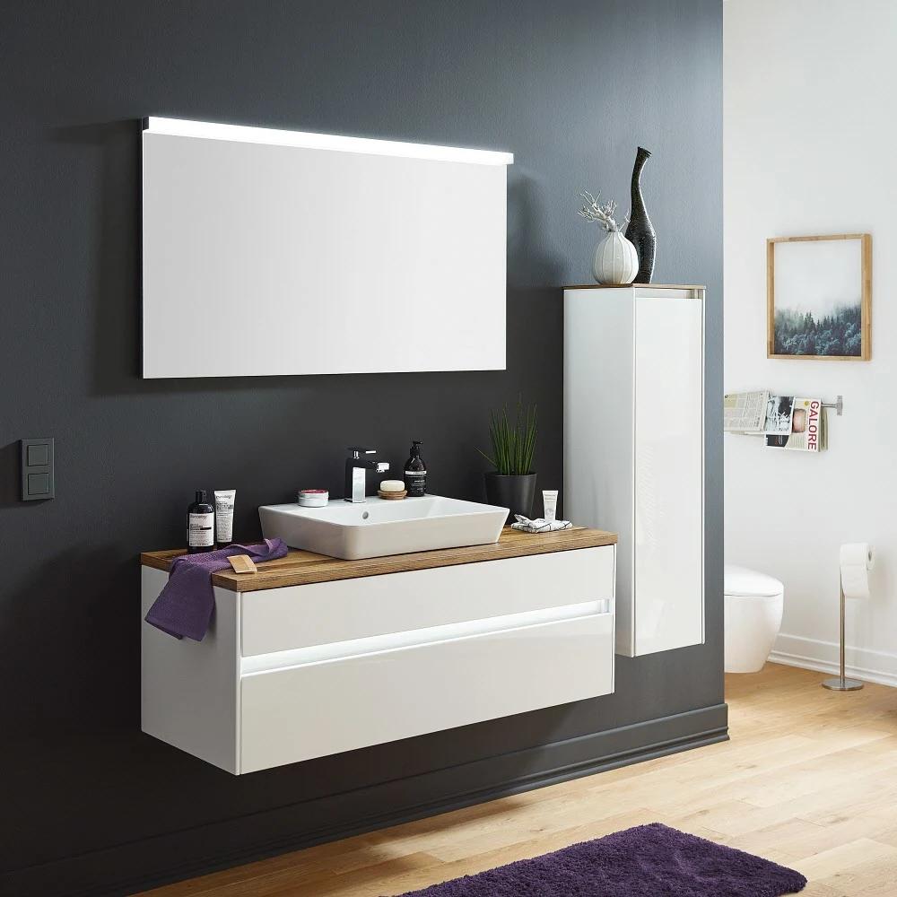 Puris Unique Waschtischunterschrank 122 X 49 2 Cm Grifflos Mit Led Beleuchtung Set382sbgf794k194g In 2020 Waschtischunterschrank Waschtischunterbauten Led Beleuchtung
