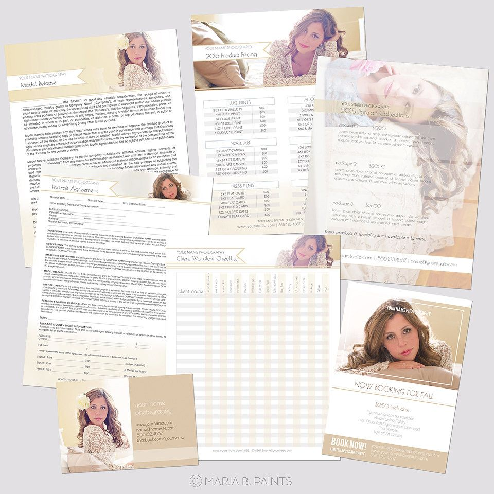 Instant Download Photography Workflow Set Sell Sheet  Photography