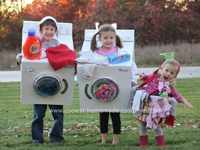 group costumes ideAS | What a great and simple idea for a group! The washer and dryer could .  sc 1 st  Pinterest & Halloween Week: Kids Costume Ideas | Costumes Halloween costumes ...