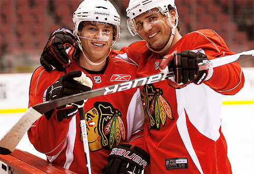 Patrick Kane And Patrick Sharp