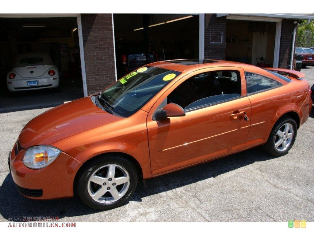 My Dream Car Idea Of My Next Car A Two Door Orange Chevy Cobalt With A Spoiler Moon Roof Would Be Nice Too Chevy Cobalt First Cars Dream Cars