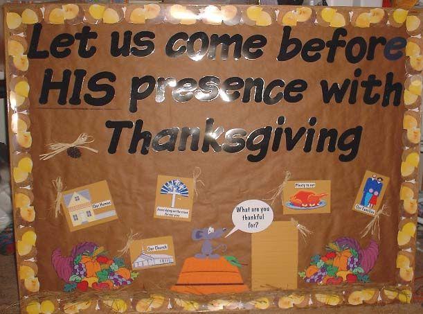 Church Bulletin Board Ideas Thanksgiving Boards Christmas