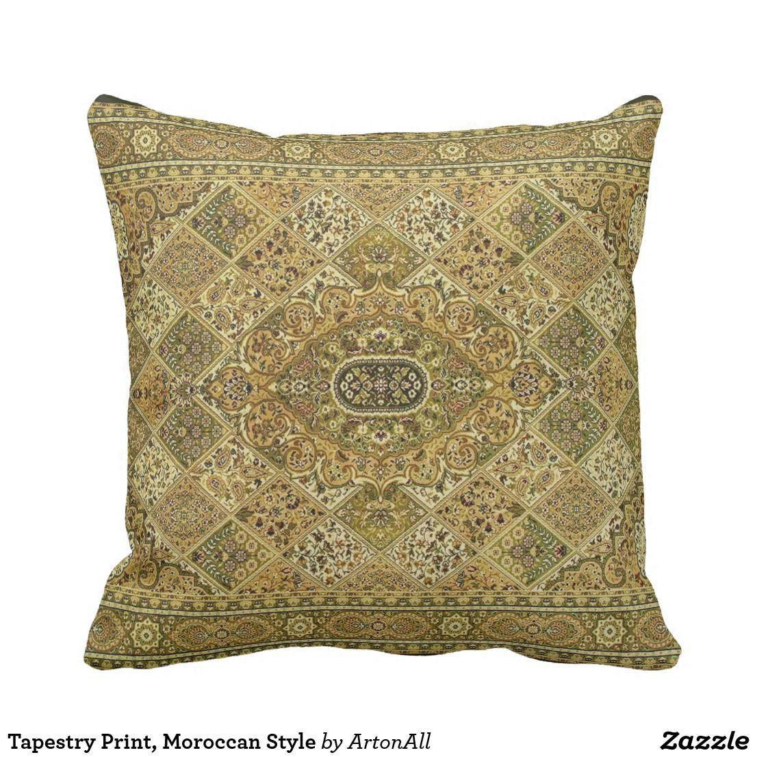 Moroccan Style Throw Pillow