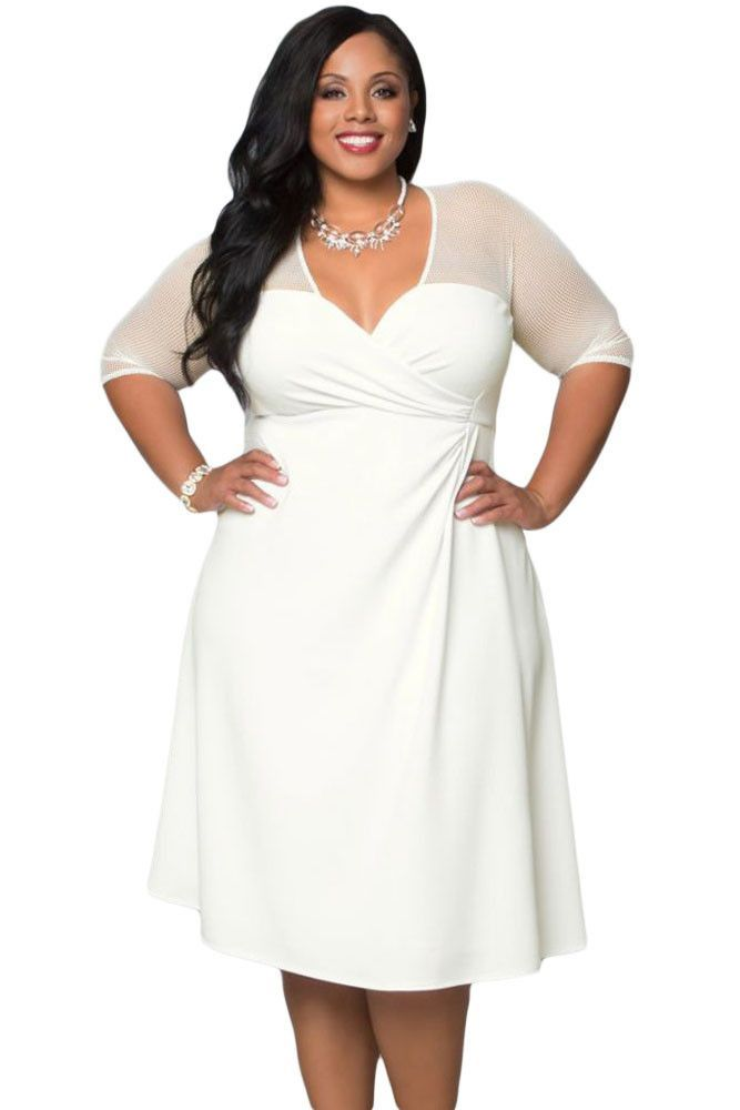 Plus size white dress for sale