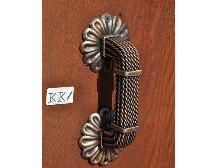 Puerta manijas puerta de granero tirar Metal puerta madera Metall ...