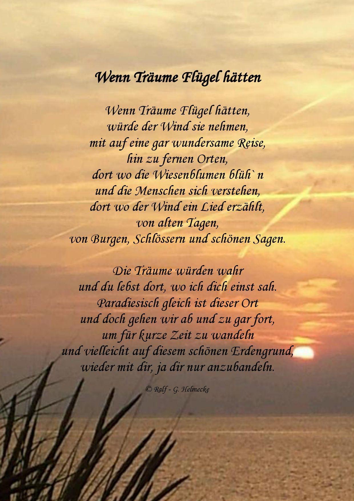 Wenn Traume Flugel Hatten Spruche Englisch Geburtstag Gedicht Das Leben Ist Eine Reise