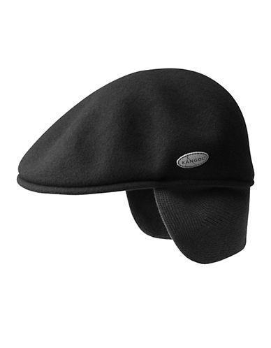 Kangol Wool Driving Cap Men s Black Large  9251849d00e