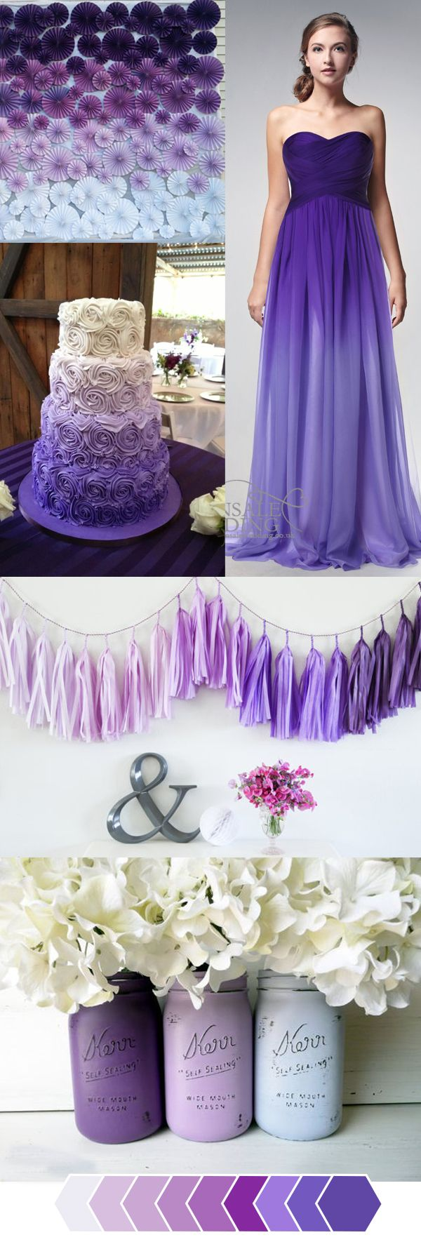 Blue and purple wedding dress  Dusty Blue Wedding Color Combos inspired by  Pantone Color