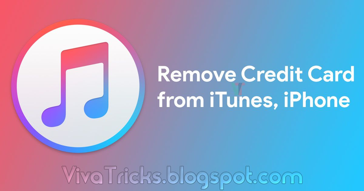 How to remove credit card from itunes iphone with images