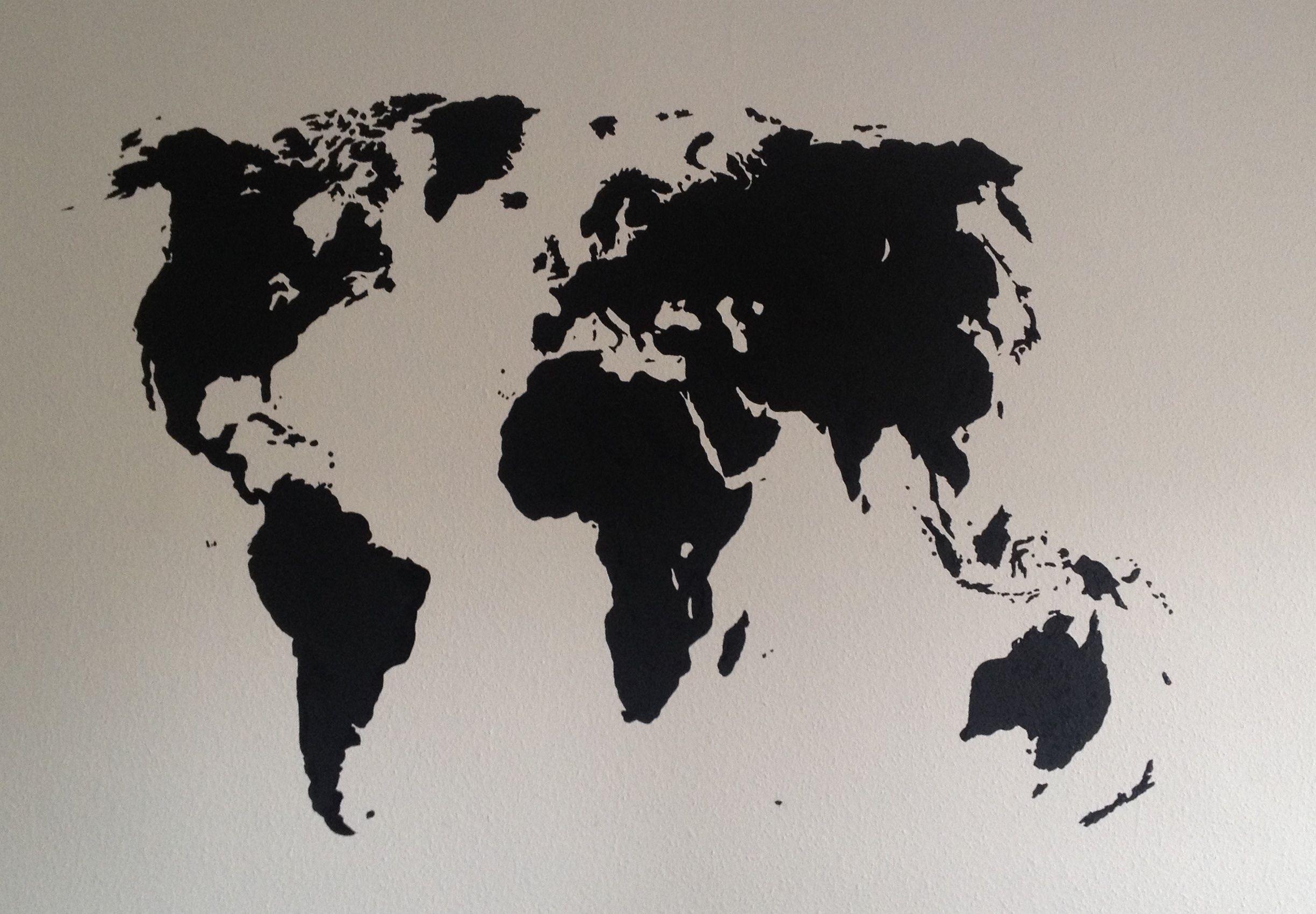 Weltkarte Auf Wand Gemalt Mit Bildern Weltkarte Wand Malen