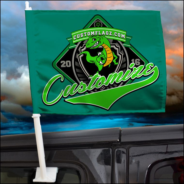 Custom made car flag! Get your mascot/colors how you want