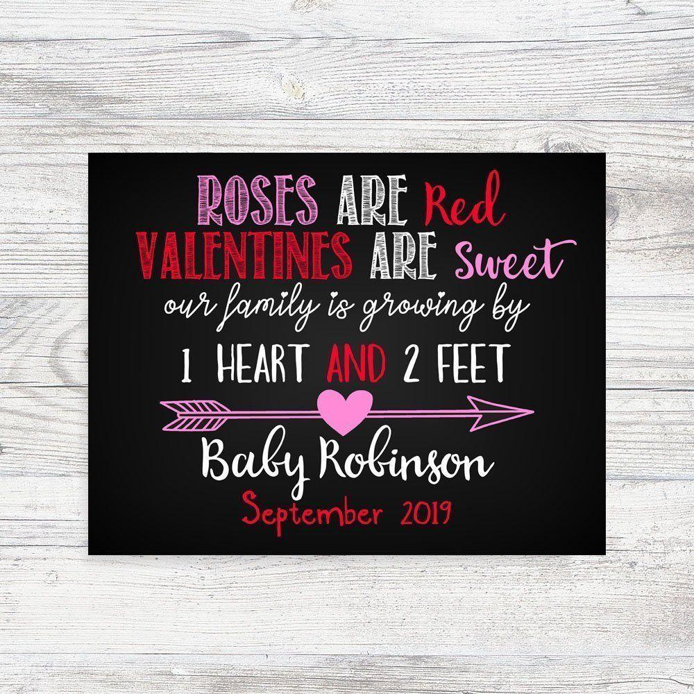 Valentinstag Schwangerschaftansage, Valentinstag, Schwangerschaftansage, Babymitteilung,  #Babymitteilung #pregnancyannouncement #Schwangerschaftansag…