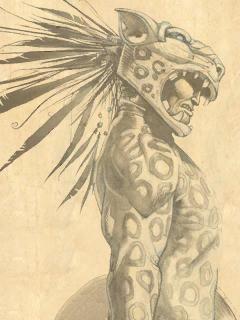 Jaguar Warrior Wallpaper Google Search Aztec Art Warrior Drawing Mayan Art