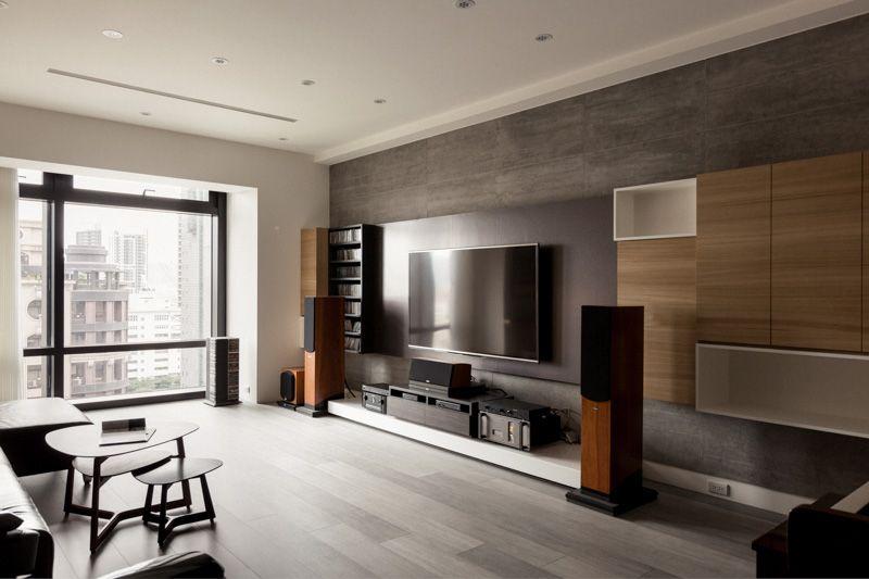 PartiDesign Creates Spacious Open-Concept Apartment White wood - led panel küche